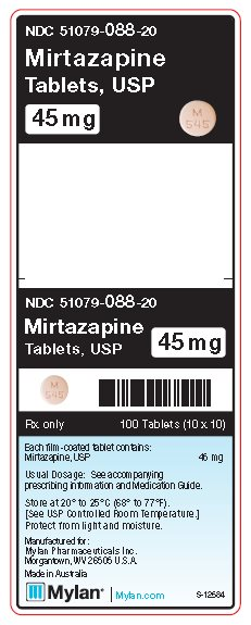 Mirtazapine 45 mg Tablets Unit Carton Label