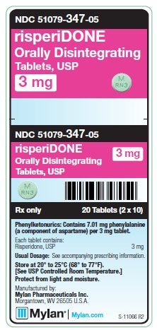 Risperidone Orally Disintegrating 3 mg Tablets Unit Carton Labels