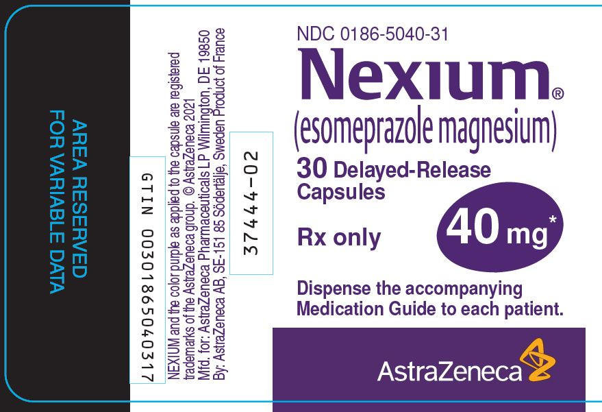 Nexium 40 mg 30 count bottle label