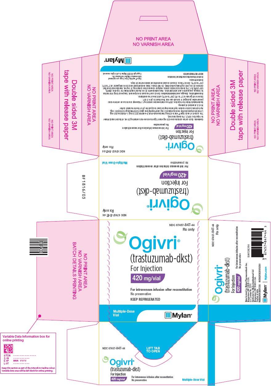 Rx Item-OGIVRI trastuzumab-dkst INTRAVEN 150 MG SDV Biosimilar to Herceptin BY M