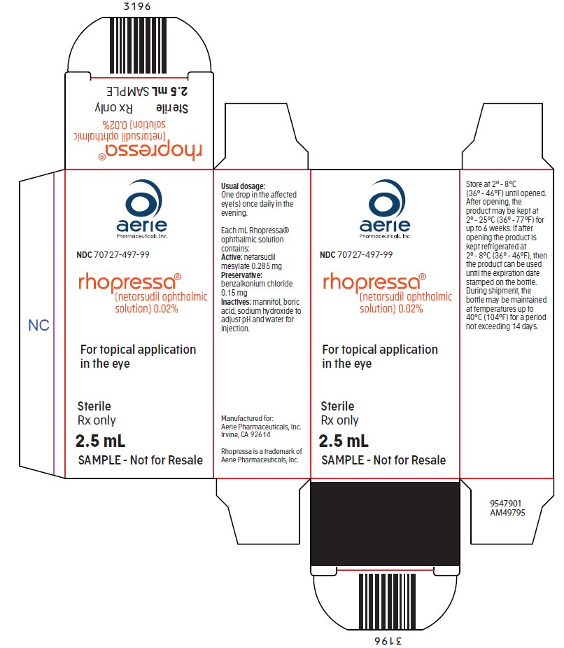 Rhopressa (netarsudil ophthalmic solution) 0.02% sample carton label