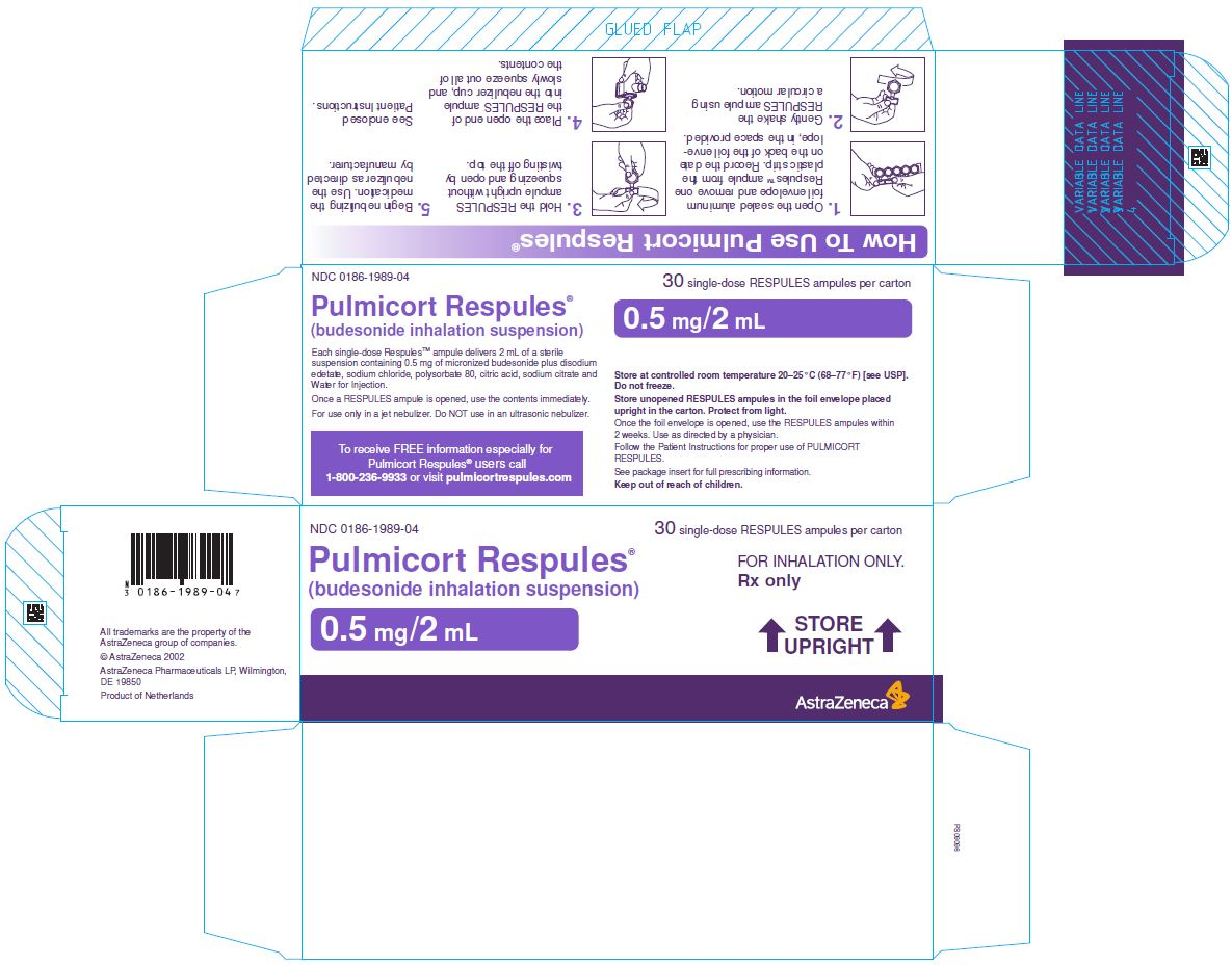 Pulmicort Respules 0.5 mg/2 mL Carton Label 30 single-dose RESPULES ampules per carton