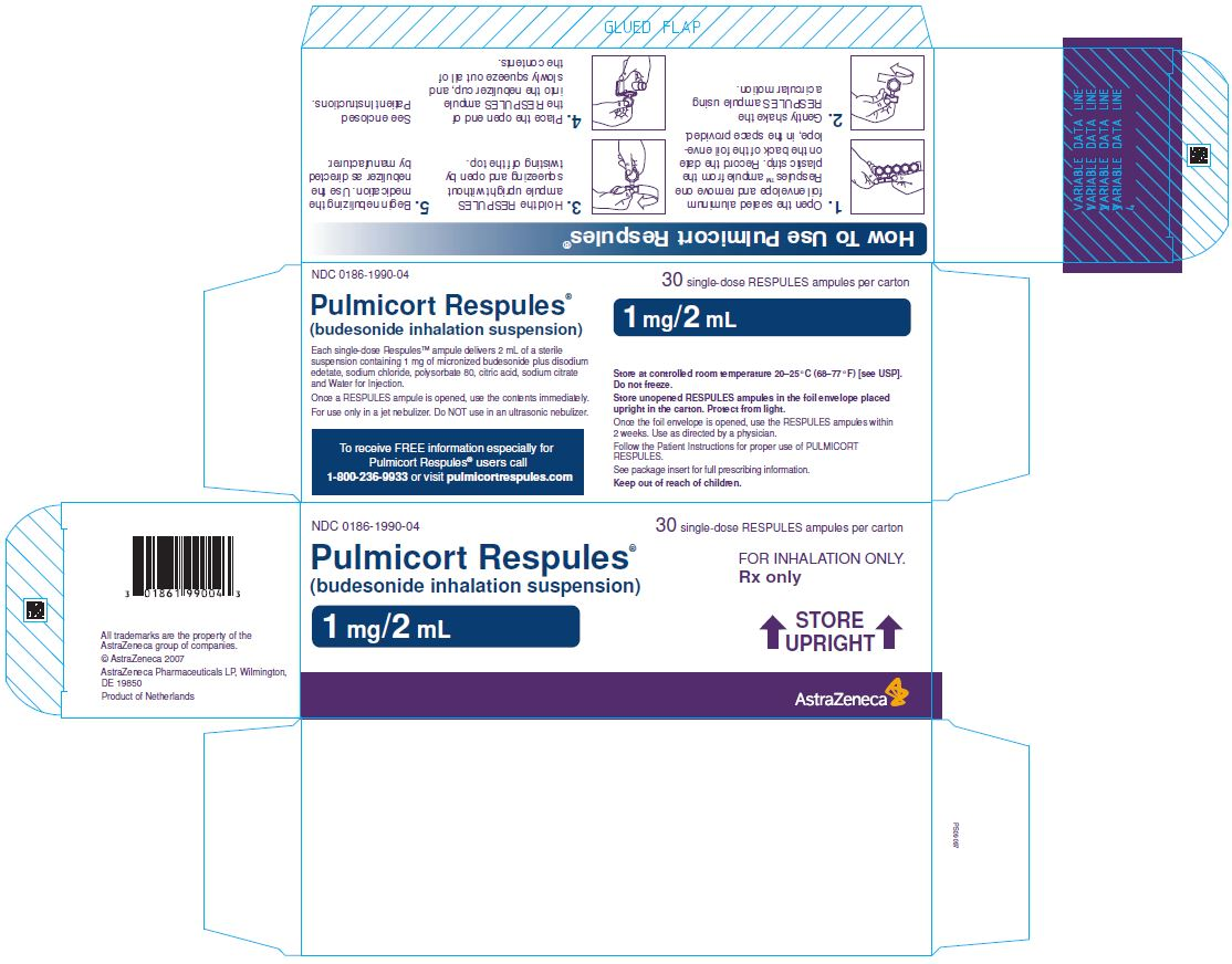 Pulmicort Respules 1 mg/2 mL Carton Label 30 single-dose RESPULES ampules per carton