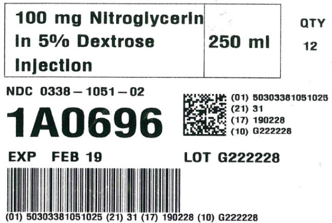 Representative Nitroglycerin in Dextrose Serialization Label 0338-1051-02