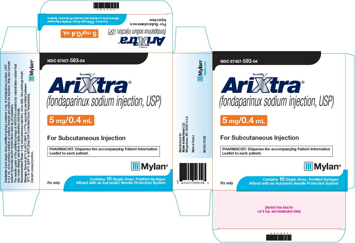 Arixtra Injection 5 mg/0.4 mL Carton Label