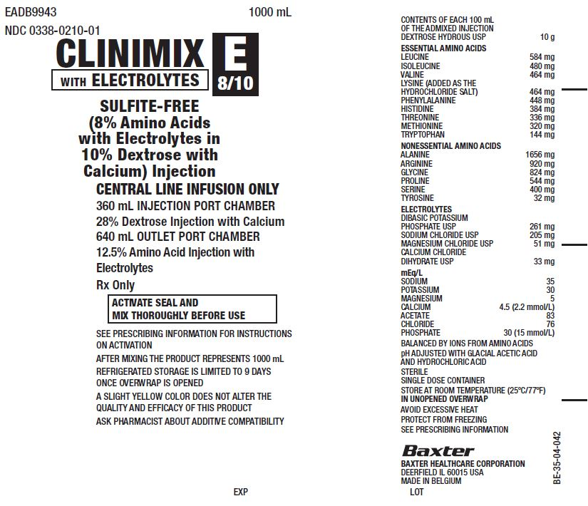 Clinimix E Representative Container Label 0338-1148
