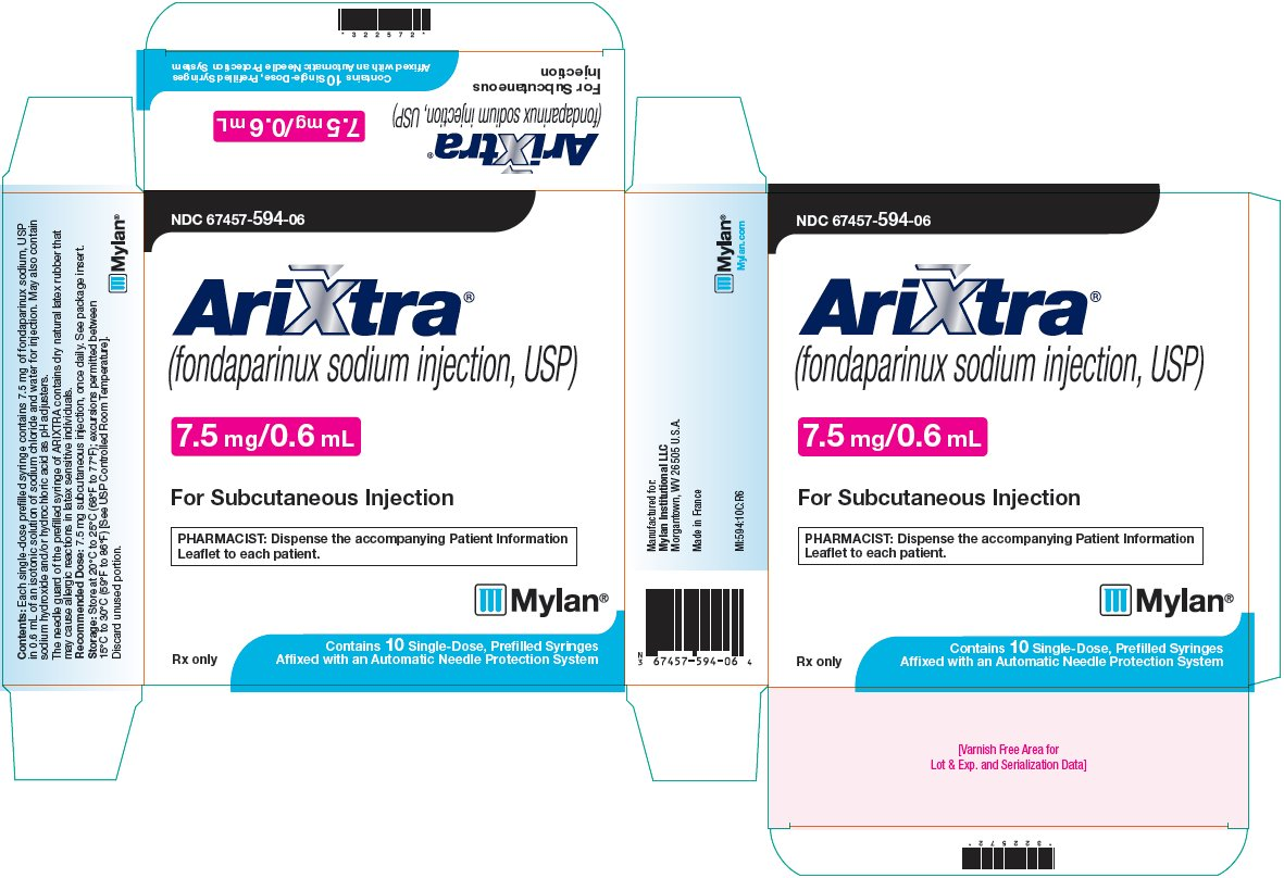 Arixtra Injection 7.5 mg/0.6 mL Carton Label