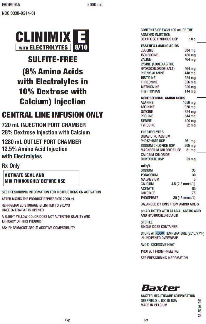 Clinimix E Representative Container Label 0338-1125