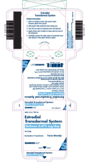 Label - Estradiol Transdermal System 0.075 mg/day