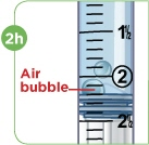 check for airbubbles