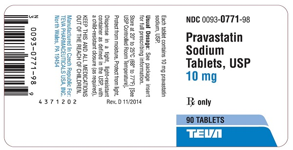 10 mg, 90 tablets label