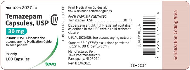 30 mg 100 capsules label