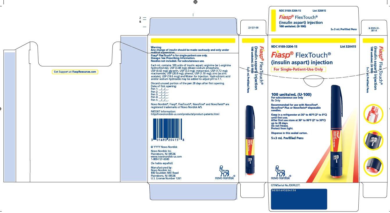 RX ITEM-Fiasp insulin aspart (niacinamide) Sq PFS 100 UNITS/ML INJ 5X3 ML