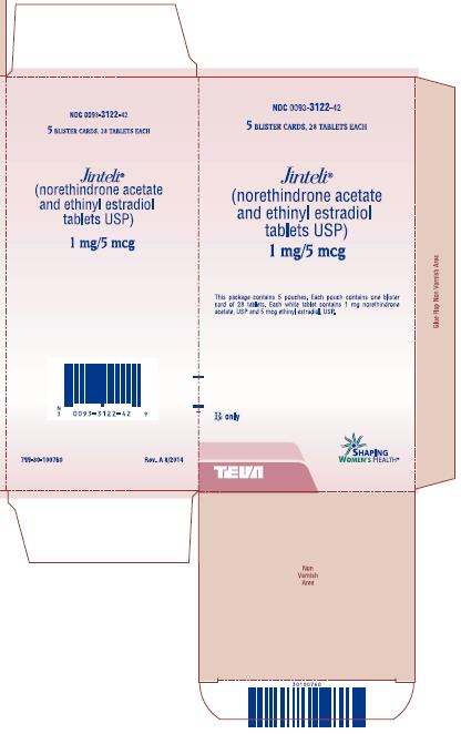 Jinteli® (norethindrone acetate and ethinyl estradiol tablets USP) 1 mg/5 mcg Carton
