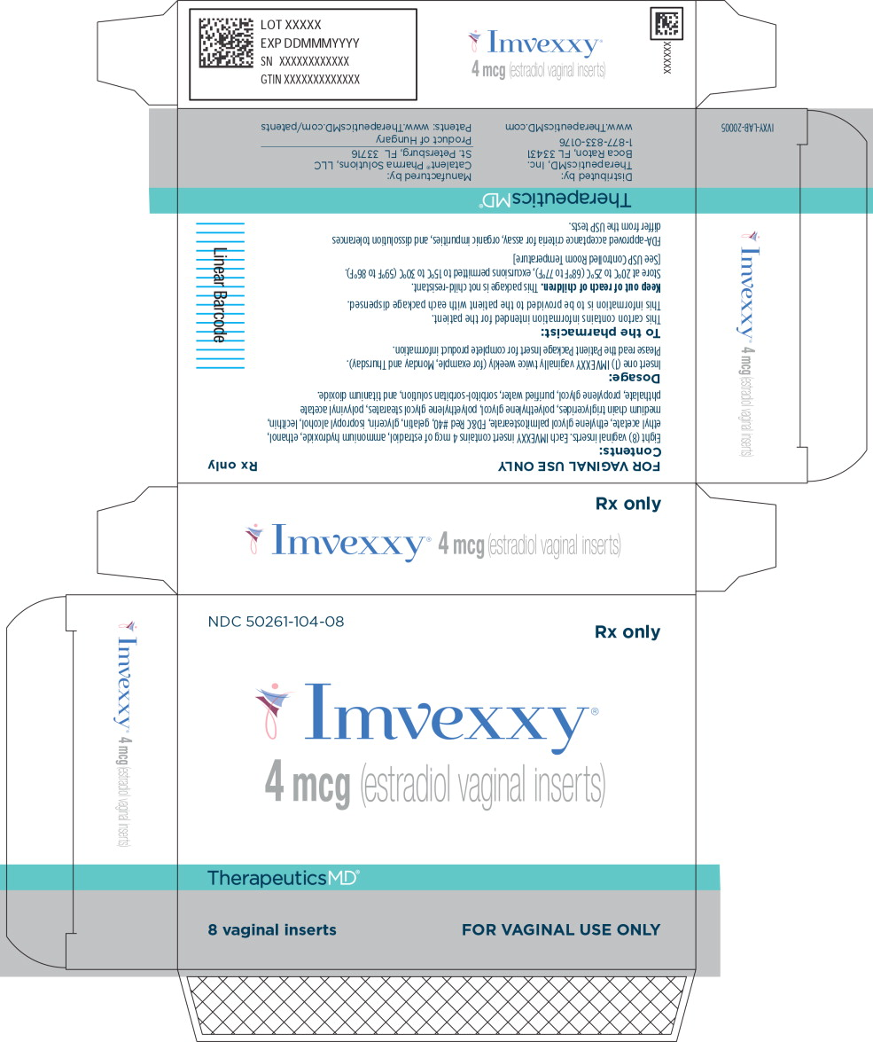 Principal Display Panel - Imvexxy 4 mcg 8 Count Carton Label