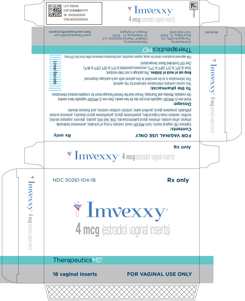Principal Display Panel - Imvexxy 4 mcg 18 Count Carton Label