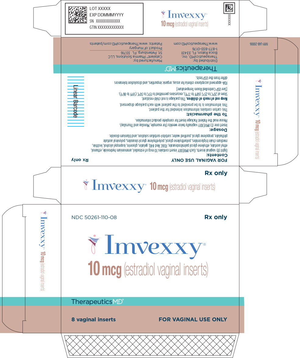Principal Display Panel - Imvexxy 10 mcg 8 Count Carton Label