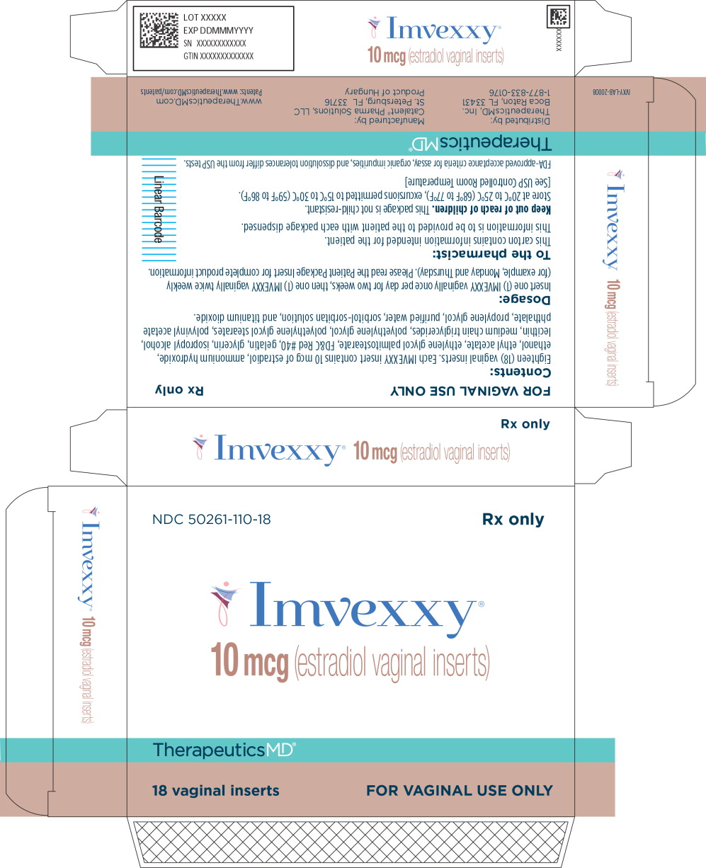 Principal Display Panel - Imvexxy 10 mcg 18 Count Carton Label