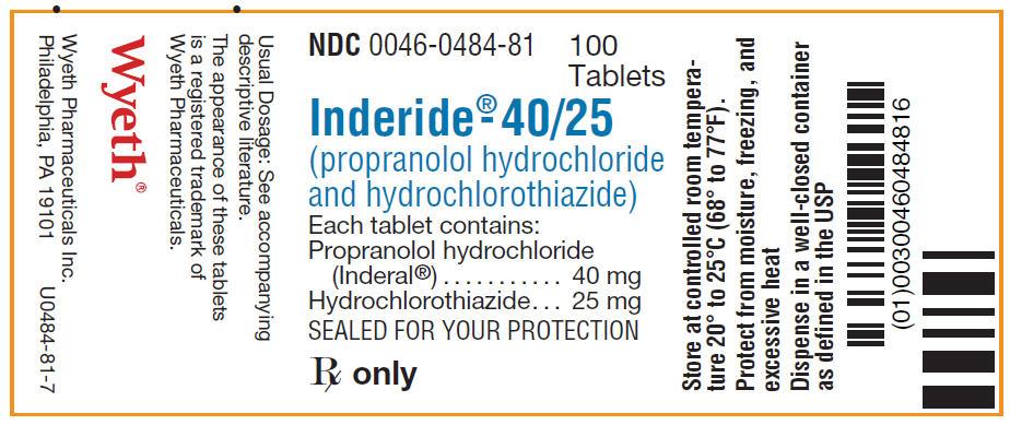 Inderide   Propranolol Hydrochloride And Hydrochlorothiazide Tablet Breastfeeding