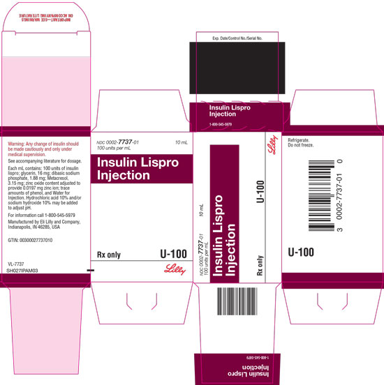 PACKAGE CARTON – Insulin Lispro Injection 10 mL vial 1ct