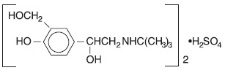 Figure 3.1-1. Chemical structure of albuterol sulfate
