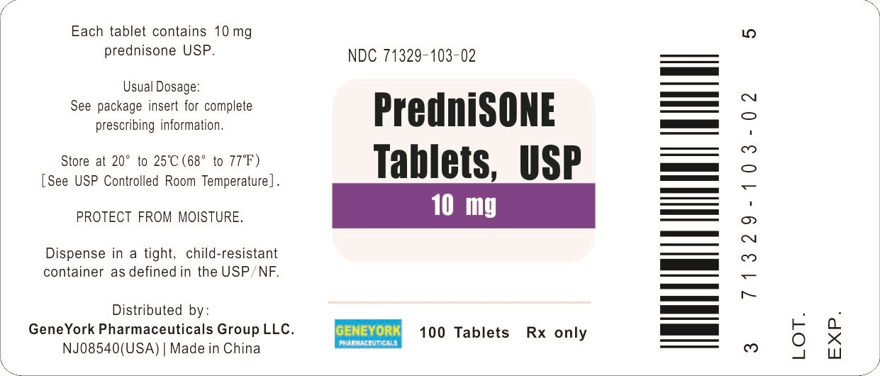 Label 100 tablets for 10 mg