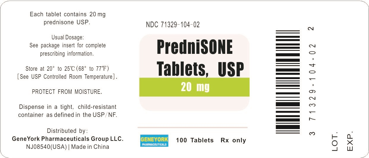 Label 100 tablets for 20 mg