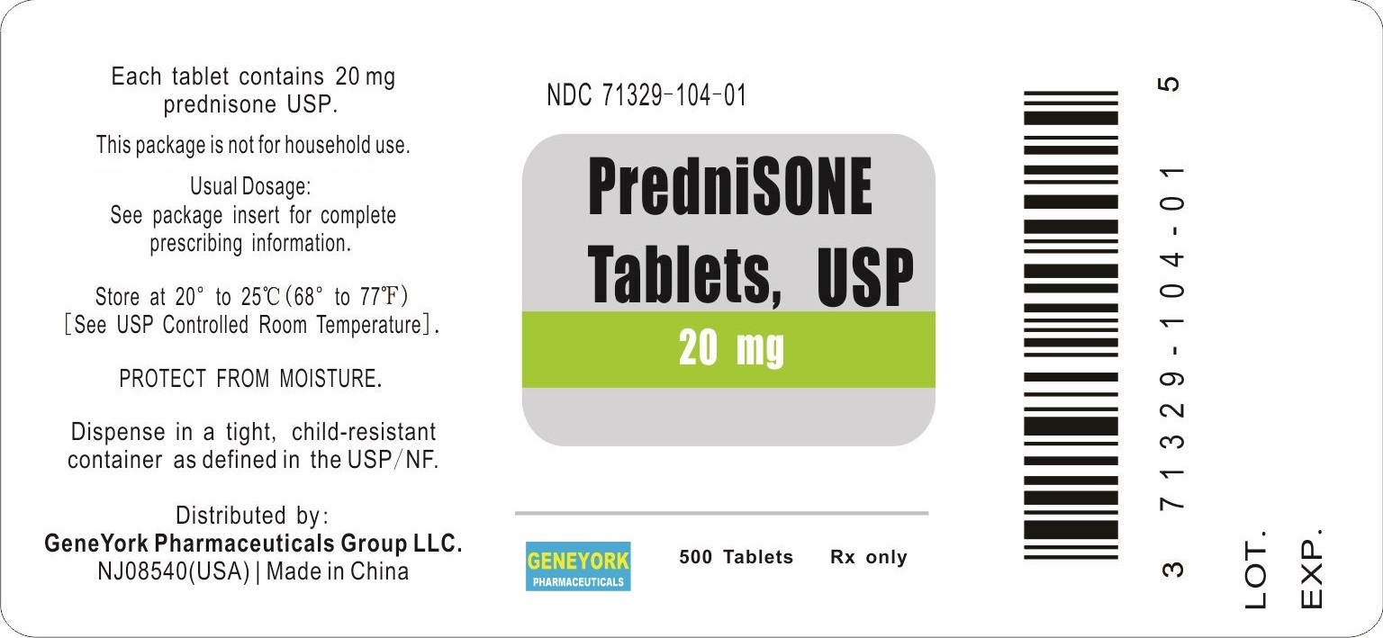 Label 500 tablets for 20 mg