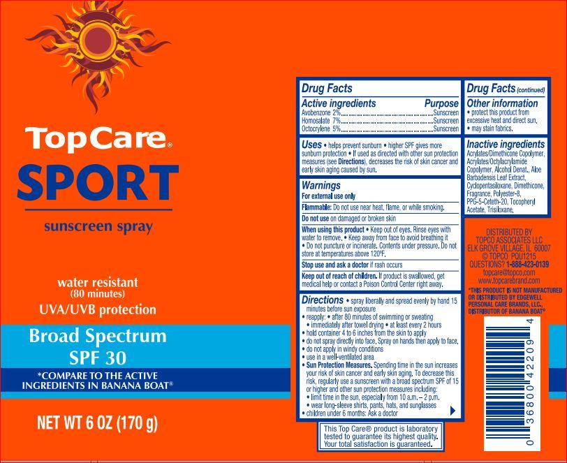 Sport Sunscreen Spf 30 Topcare   Avobenzone 2.00% Homosalate 7.00% Octocrylene 5.00% Spray Breastfeeding