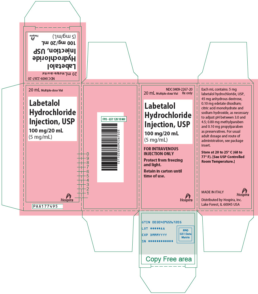 PRINCIPAL DISPLAY PANEL - 100 mg/20 mL Vial Carton