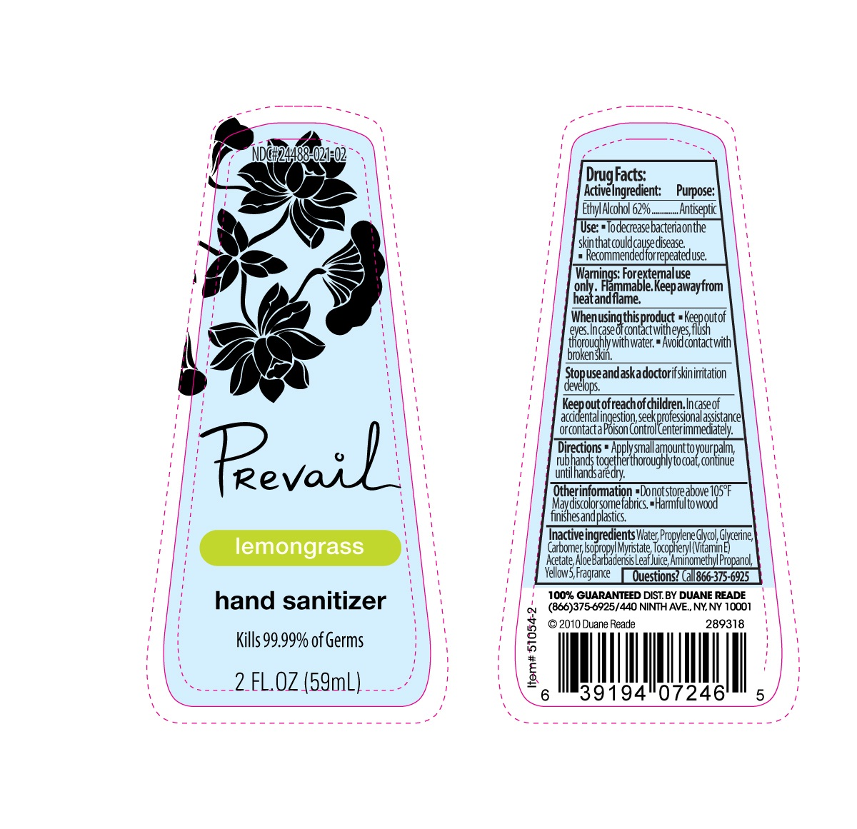 image of lemongrass label