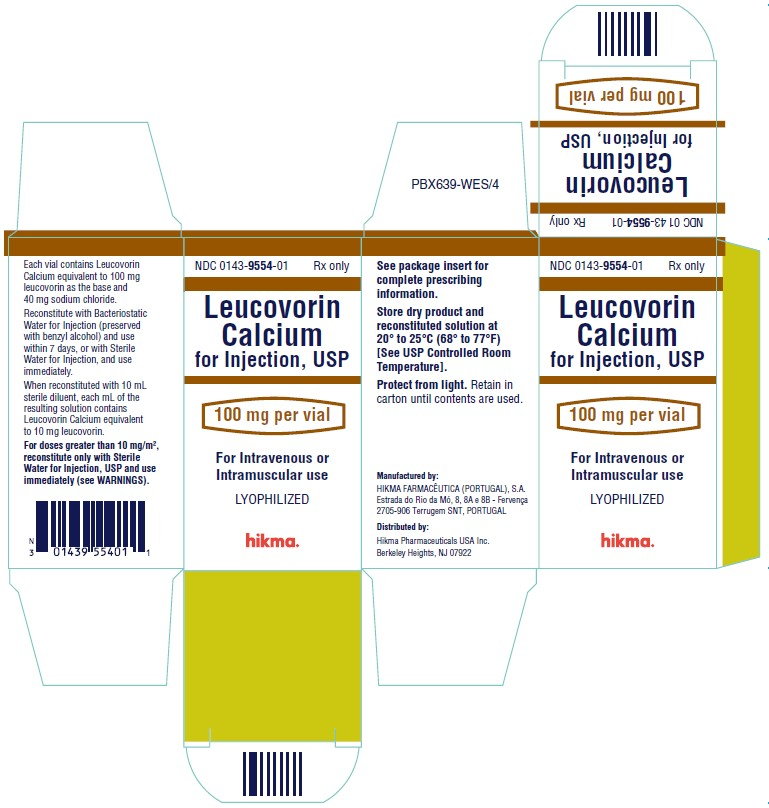 Leucovorin Calcium for Injection 100 mg/vial Carton Image