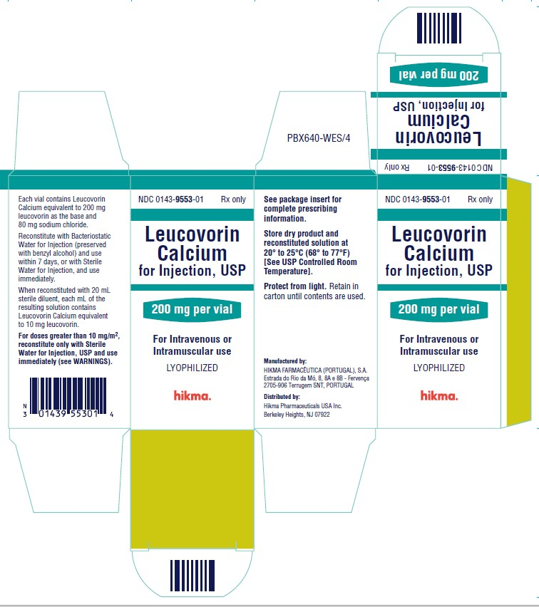 Leucovorin Calcium for Injection 200 mg/vial Carton Image