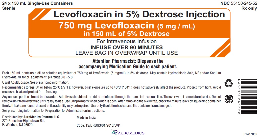 PACKAGE LABEL-PRINCIPAL DISPLAY PANEL - 750 mg Levofloxacin (5 mg / mL) in 150 mL of 5% Dextrose - Carton Label