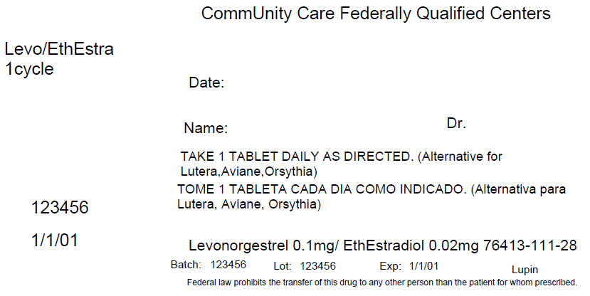 Levonorgestrel And Ethinyl Estradiol Kit Breastfeeding