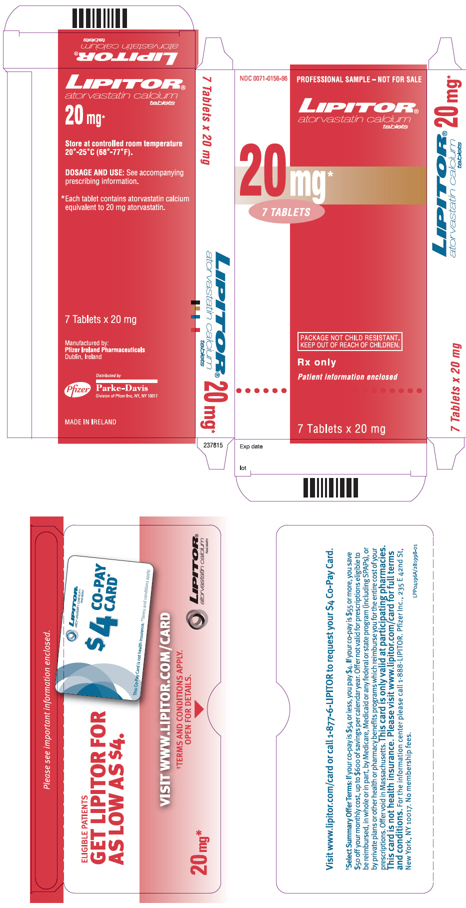 PRINCIPAL DISPLAY PANEL - 20 mg Tablet Packet Carton