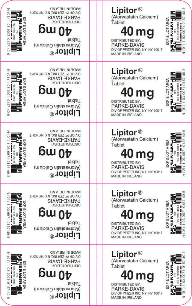 PRINCIPAL DISPLAY PANEL - 40 mg Tablet Blister Pack