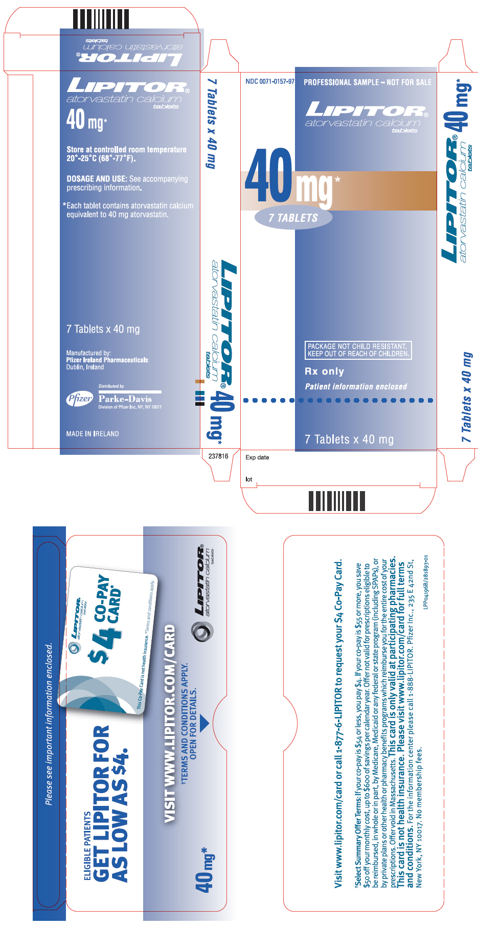 PRINCIPAL DISPLAY PANEL - 40 mg Tablet Packet Carton
