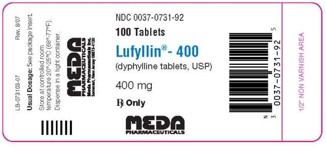 100-Count Bottle, 400 mg Tablets