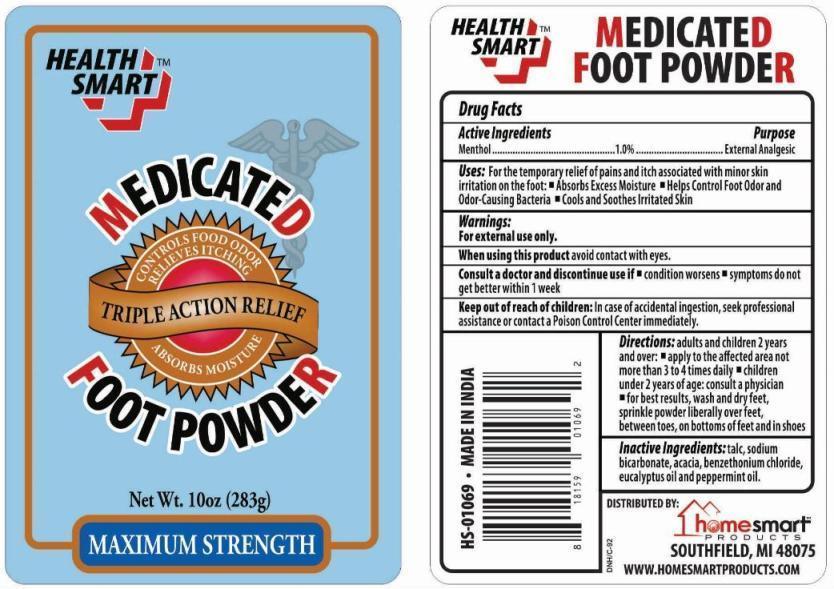 Health Smart Medicated Foot   Menthol Powder Breastfeeding