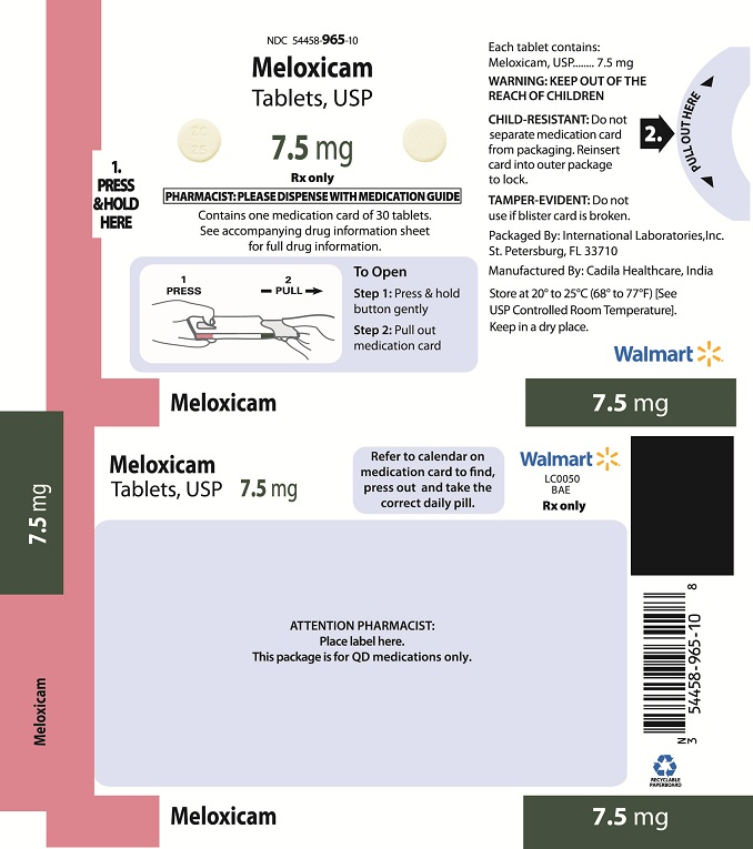 Meloxicam 7.5mg Adherence Package