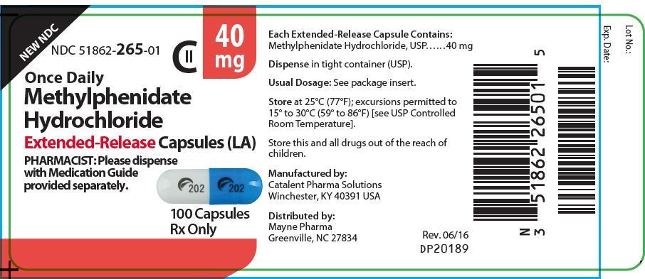 PRINCIPAL DISPLAY PANEL - 40 mg Capsule Bottle Label