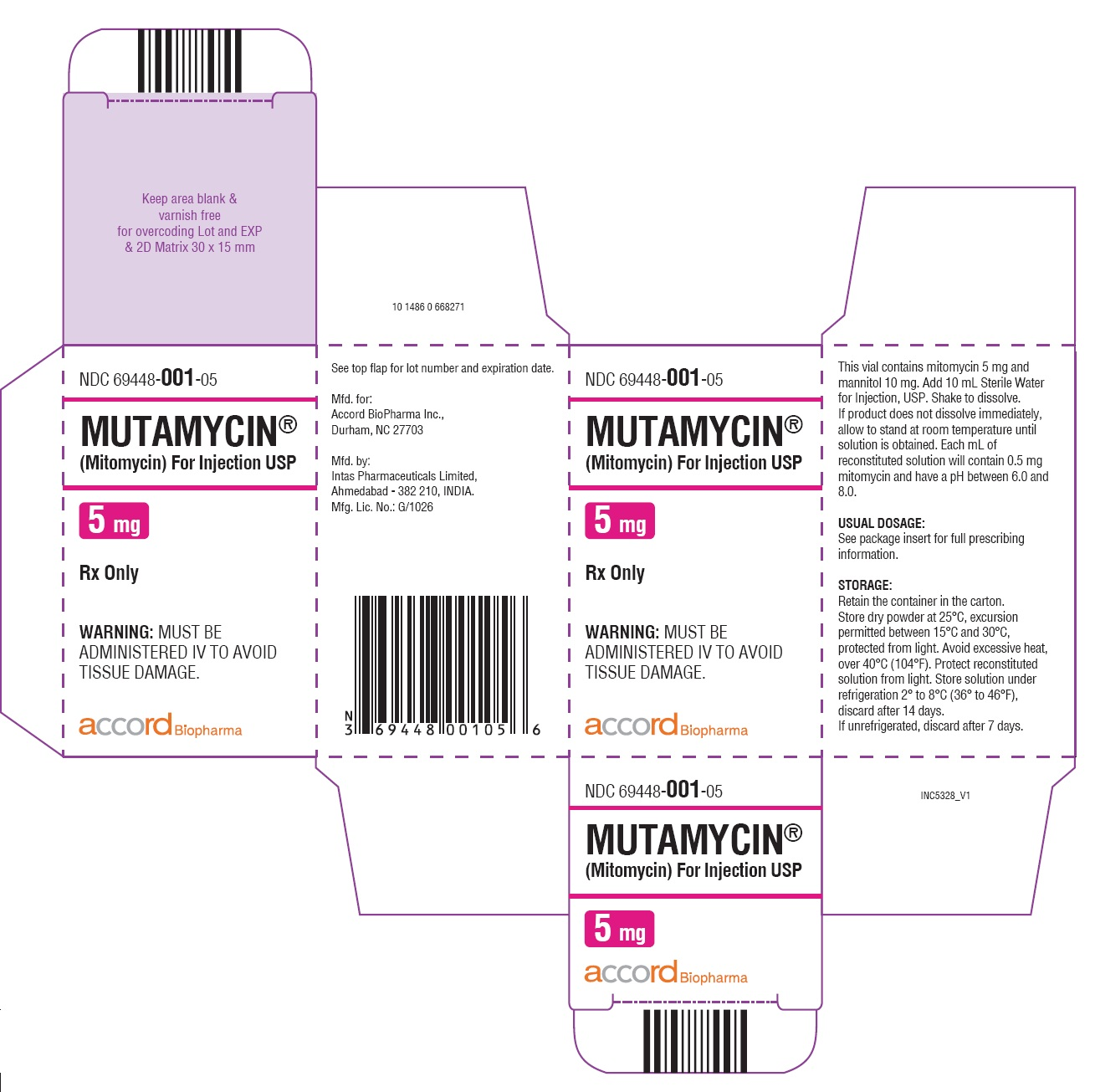 5mg carton label
