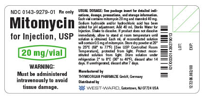 Mitomycin for Injection, USP 20 mg/vial container label