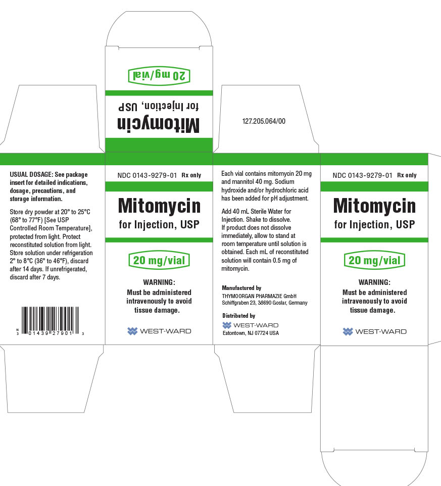 Mitomycin for Injection 20 mg/vial Carton Label