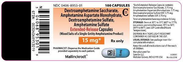 PRINCIPAL DISPLAY PANEL - 15 mg Capsule Bottle Label