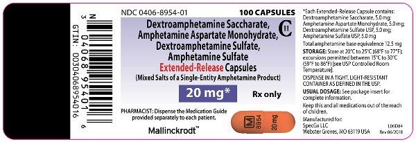 PRINCIPAL DISPLAY PANEL - 20 mg Capsule Bottle Label