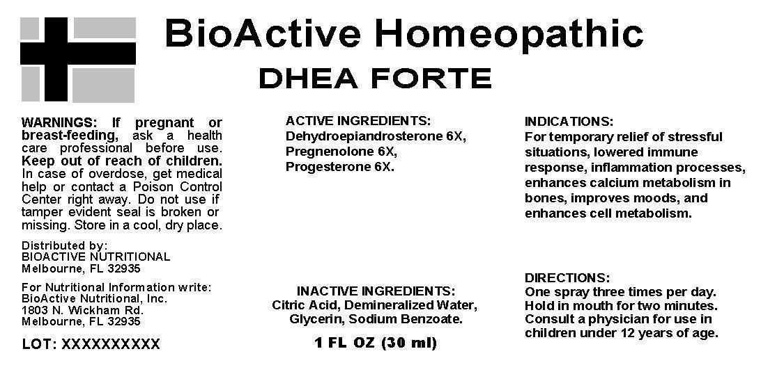 Dhea Forte   Dehydroepiandrosterone (dhea), Pregnenolone, Progesterone, Spray Breastfeeding