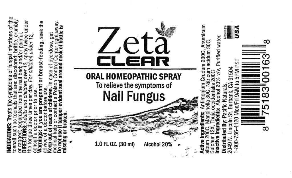 Zetaclear Oral Homeopathic Spray