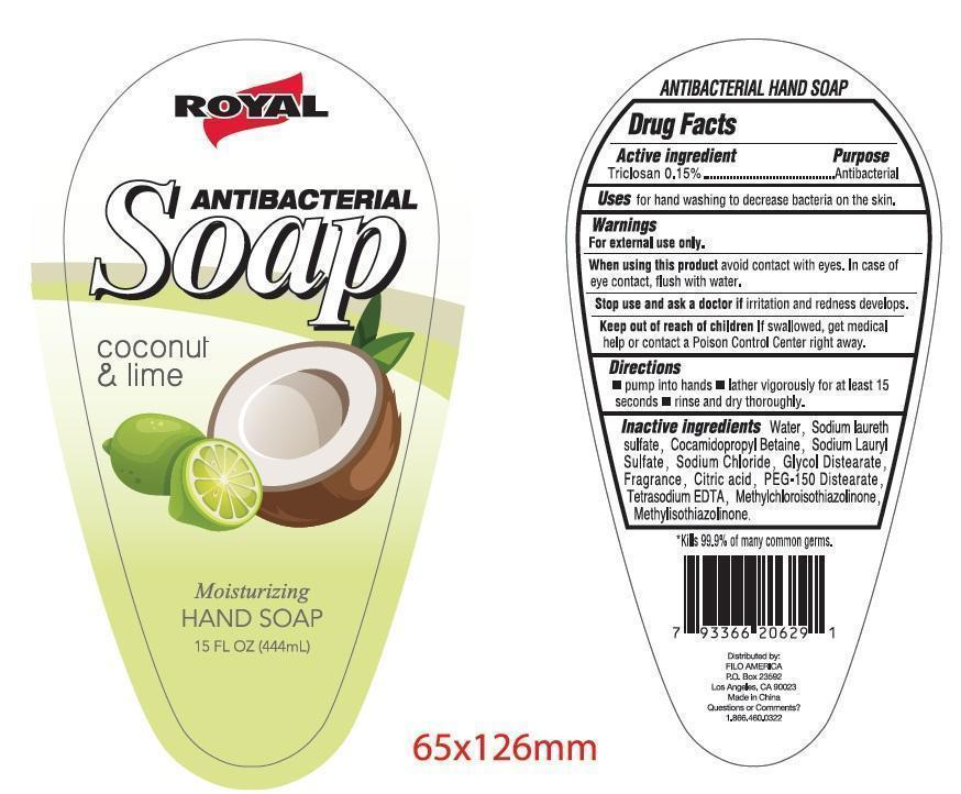 Royal Antibacterial (coconut And Lime) Moisturizing Hand Cleanse   Triclosan Gel Breastfeeding